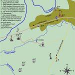 Карта расположения памятников на Бородинском поле и в д.Горки
