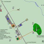 Карта расположения памятников в окрестностях Бородинского музея