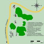 Карта расположения памятников около Псарёвой рощи