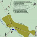 Карта расположения памятников в окрестностях деревни Семёновское